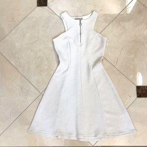Gorgeous Silver White Dress